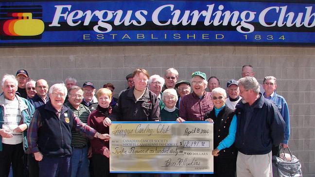 cheque for 2006 cancer spiel